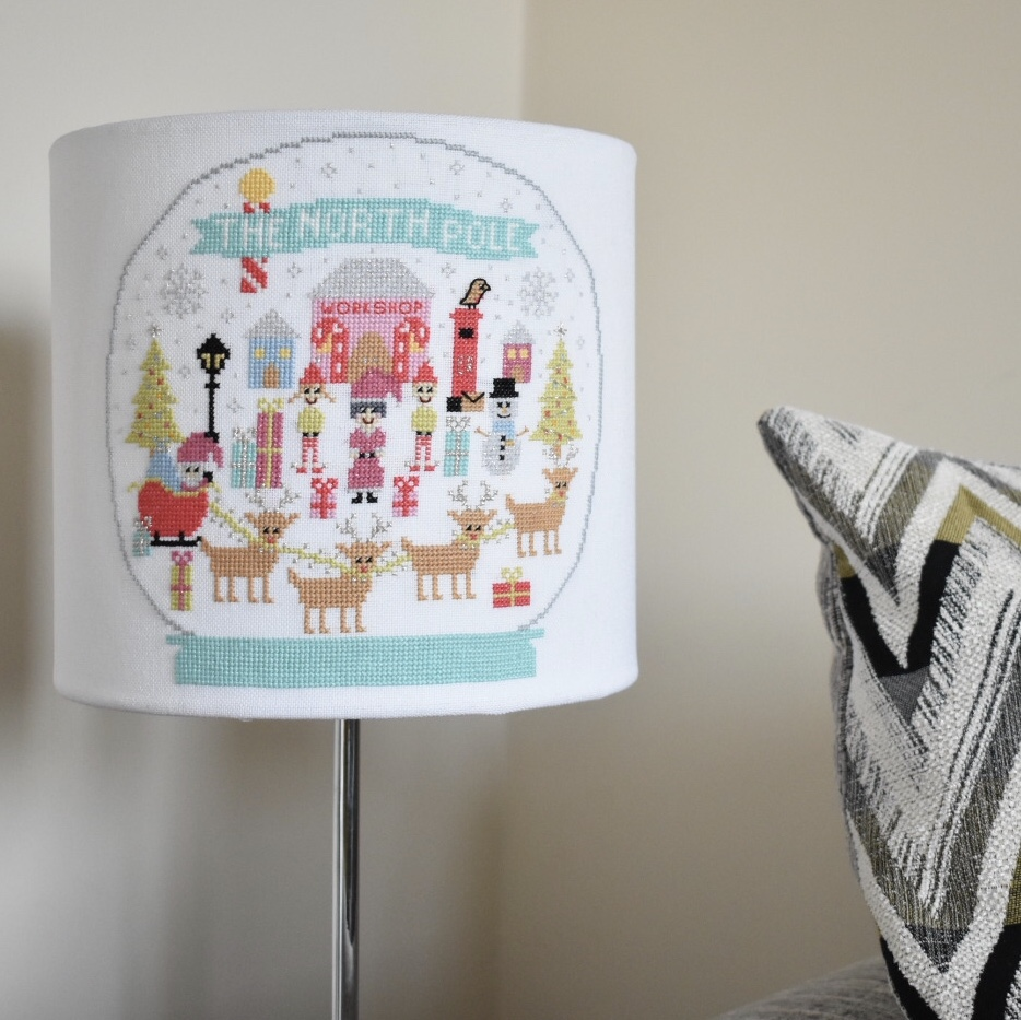 Cross Stitch Christmas lampshade