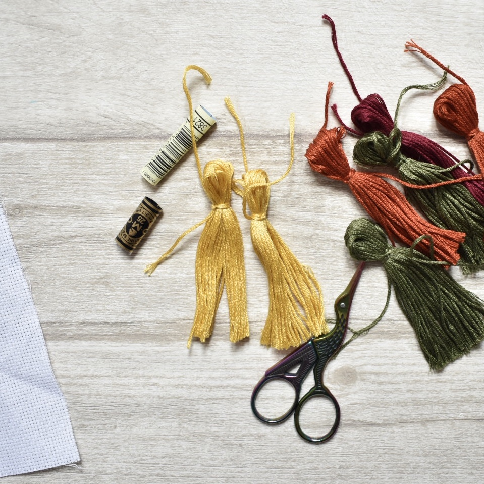 tassels from embroidery skeins