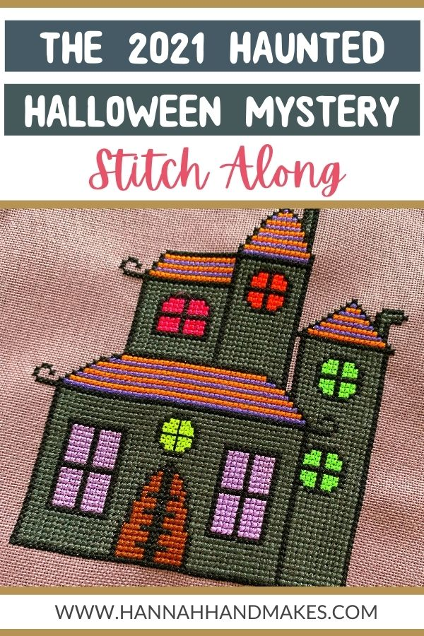 The Haunted Halloween 2021 Cross Stitch Along by Hannah Hand Makes pin