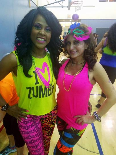 Zumba instructors are excited to dance for the cause. Saturday, February 18, 2017.