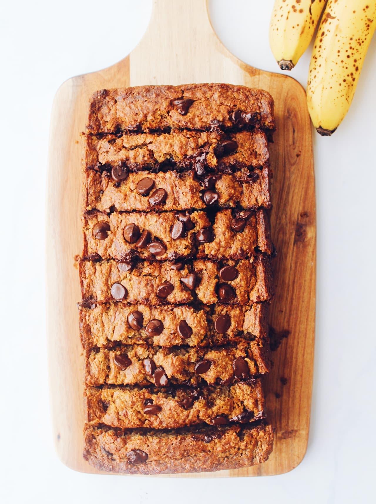Vegan Whole Grain Banana Bread