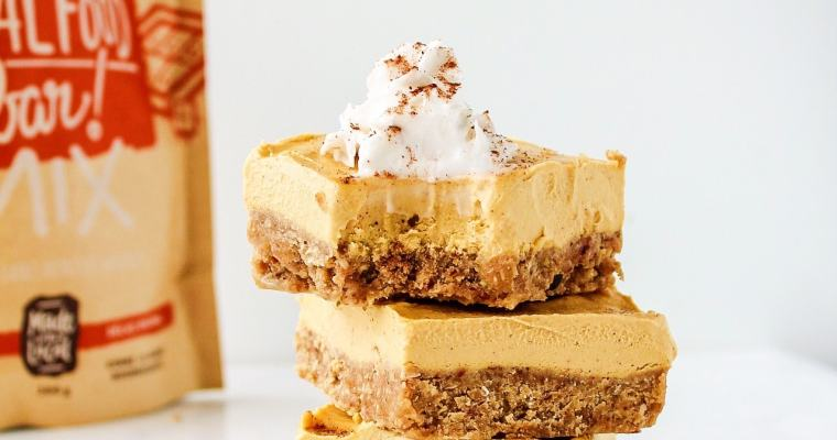 No-Bake Pumpkin Cheesecake Bars (Vegan)