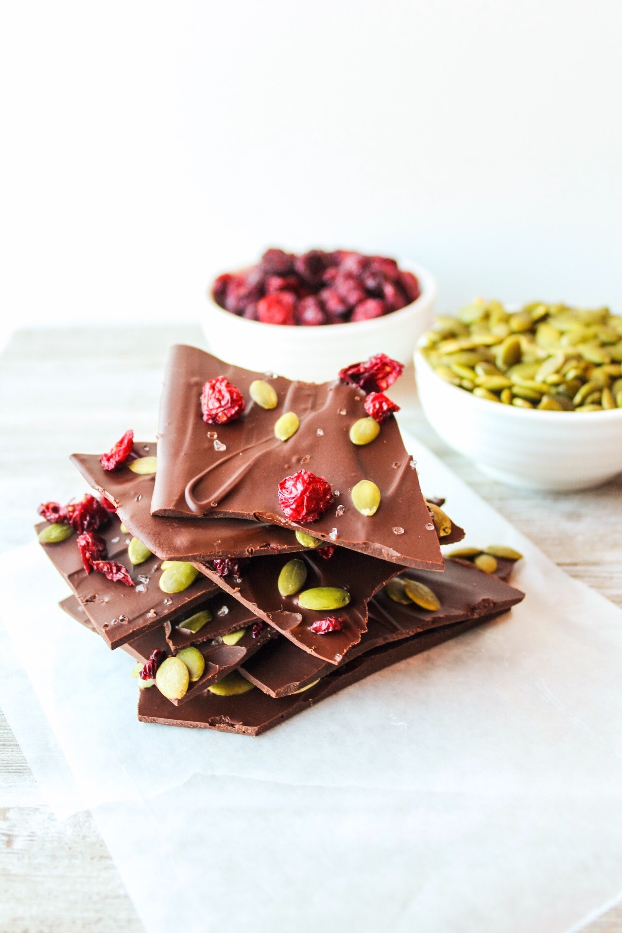 Dark Chocolate Pumpkin Seed Bark