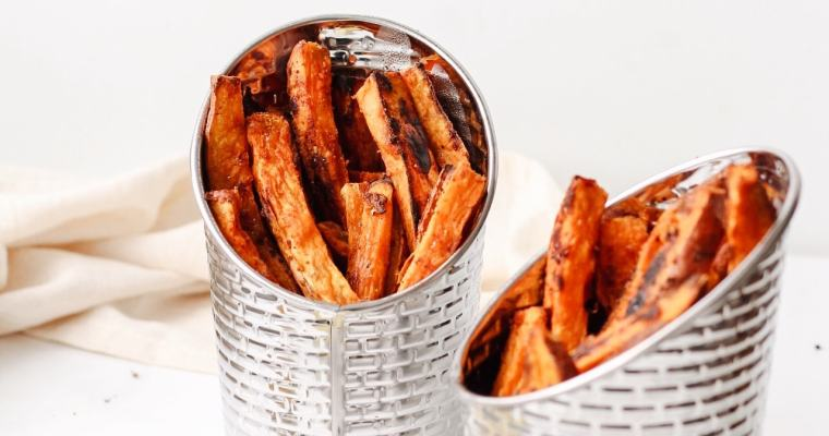 Baked Sweet Potato Fries with Curry Mayo