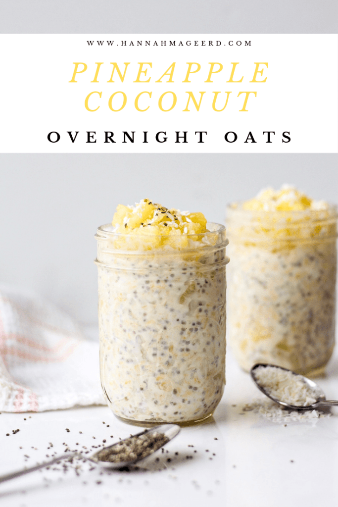 The easiest healthy breakfast - overnight oats! With a tropical twist thanks to pineapple and coconut flavours.
