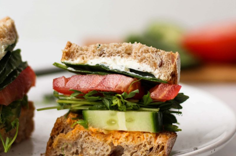 How to build an epic vegetarian sandwich that tastes good and keeps you healthy and full!
