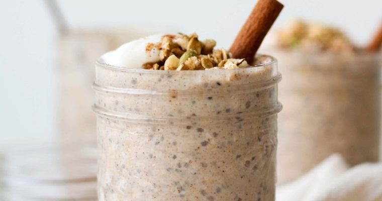 Easy Chai Spiced Overnight Oats