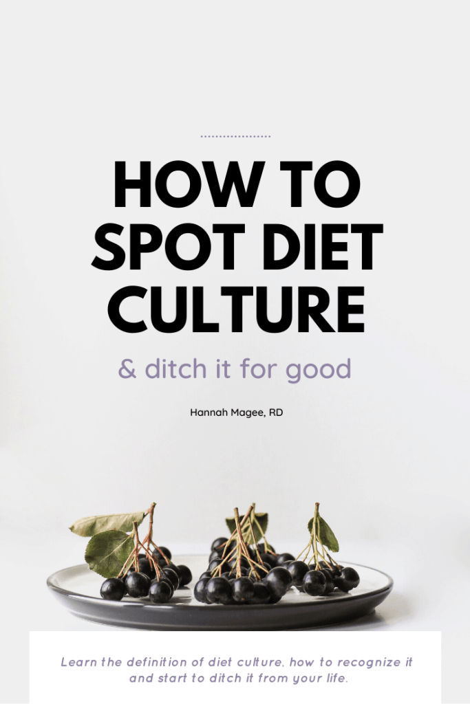 Learn the definition of diet culture, how to recognize it in your life and how to begin to dismantle it.