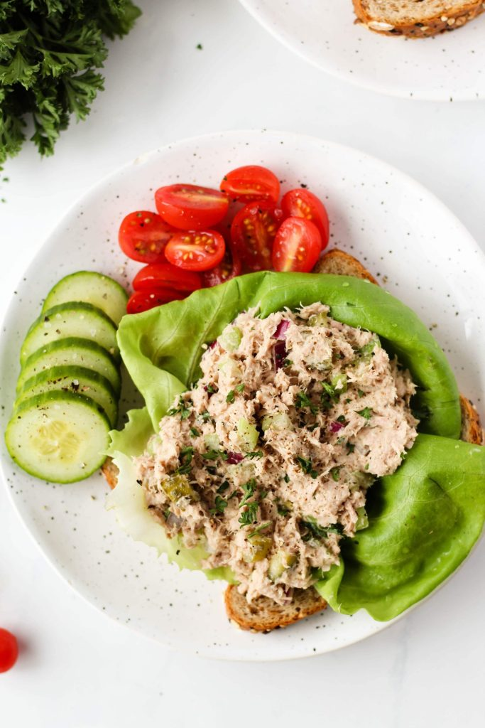 Healthy Tuna Salad With Hummus Hannah Magee Rd
