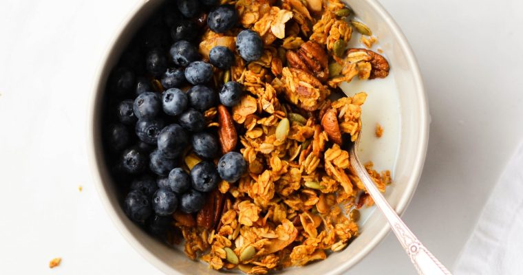 Maple Pumpkin Granola (Vegan + Gluten-Free)