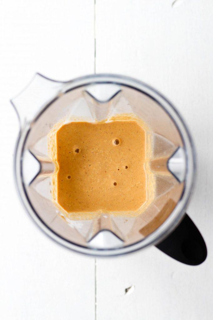 Healthy pumpkin pancake batter