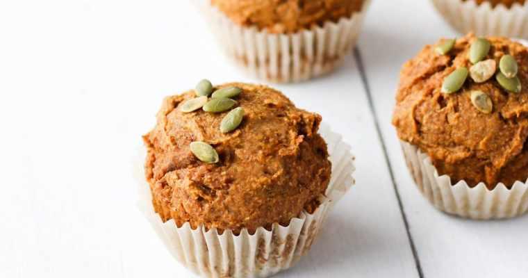 Whole Wheat Pumpkin Muffins (Vegan)
