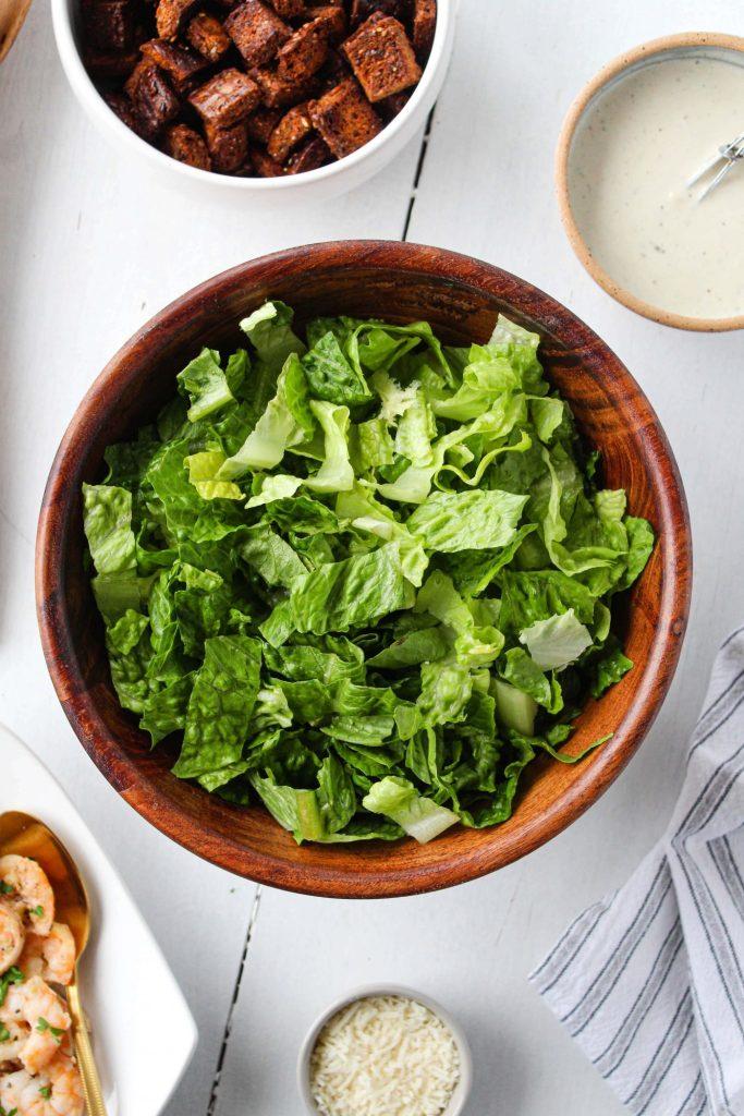Ingredients for Healthy Caesar salad recipe