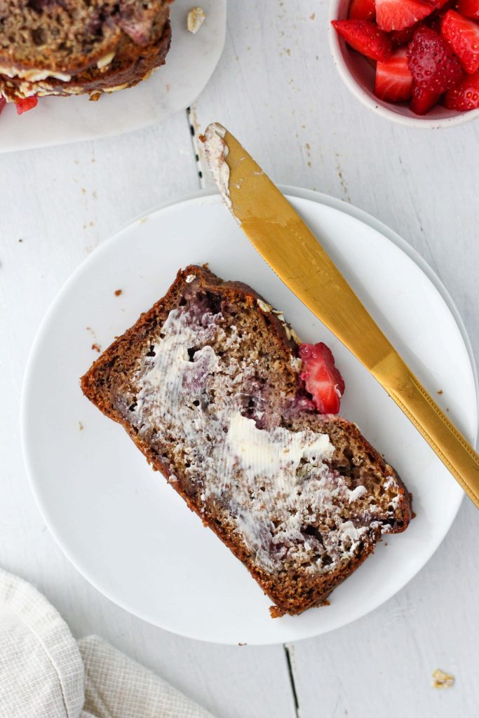 Looking for something to bake this summer? Strawberry Rhubarb Bread is the perfect summer baking recipe! It's moist, fluffy, and nutritious.