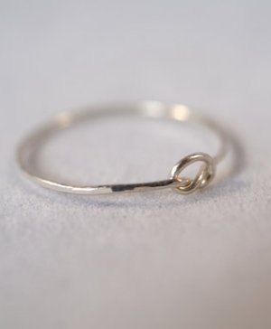 ultra thin silver open knot ring