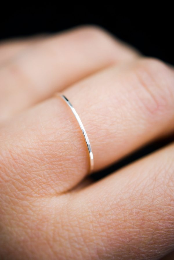 ultra thin silver hammered