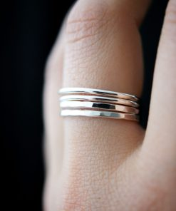 thick silver rings