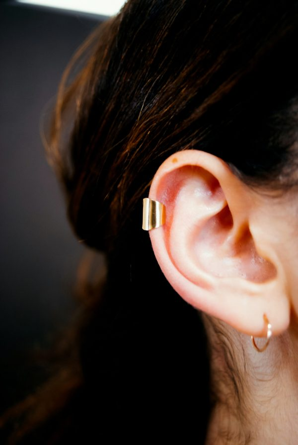 smooth large gold ear cuff