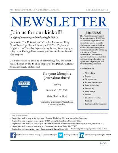 PRSSA Newsletter