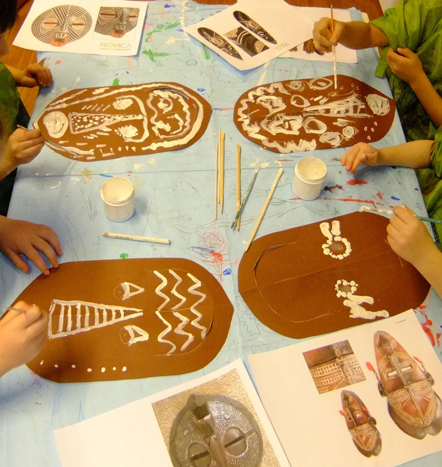 African Masks March Hannah S Art Club