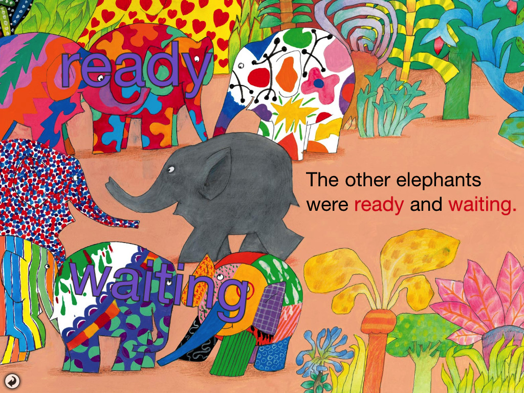Elmer The Patchwork Elephant Two Tissue Paper Staining