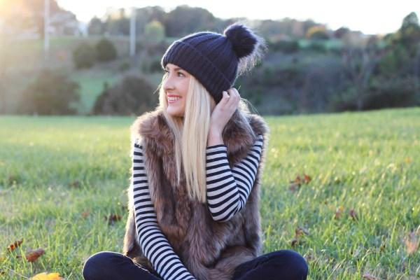 Stripes + Faux Fur | Hannah Shanae