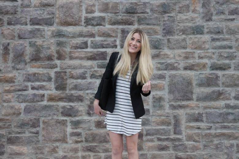 Casual Chic: Stripes + Fitted Blazer | Hannah Shanae