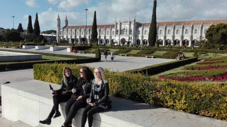 Gardens outside of The Cloister of Jeronimos Monarchy
