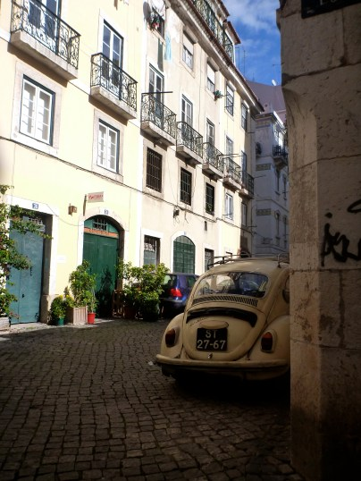 Beetle in the old wordy streets