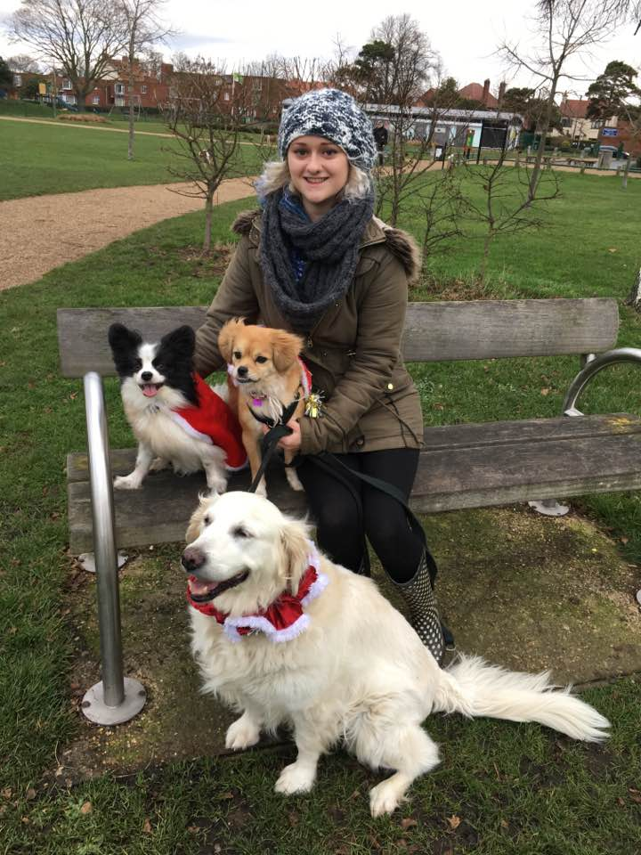 Me and three of my four dogs!