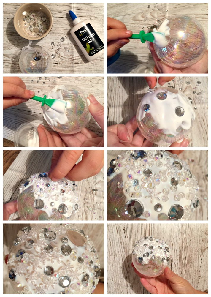 kids christmas crafts snow bauble