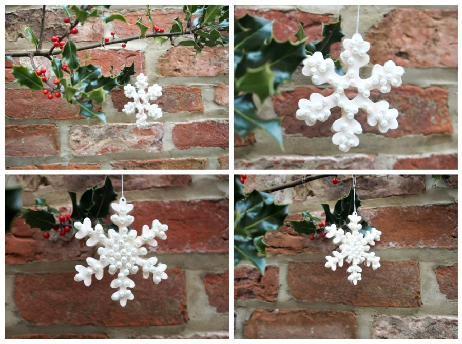 kids christmas crafts baubles snowflakes pearls