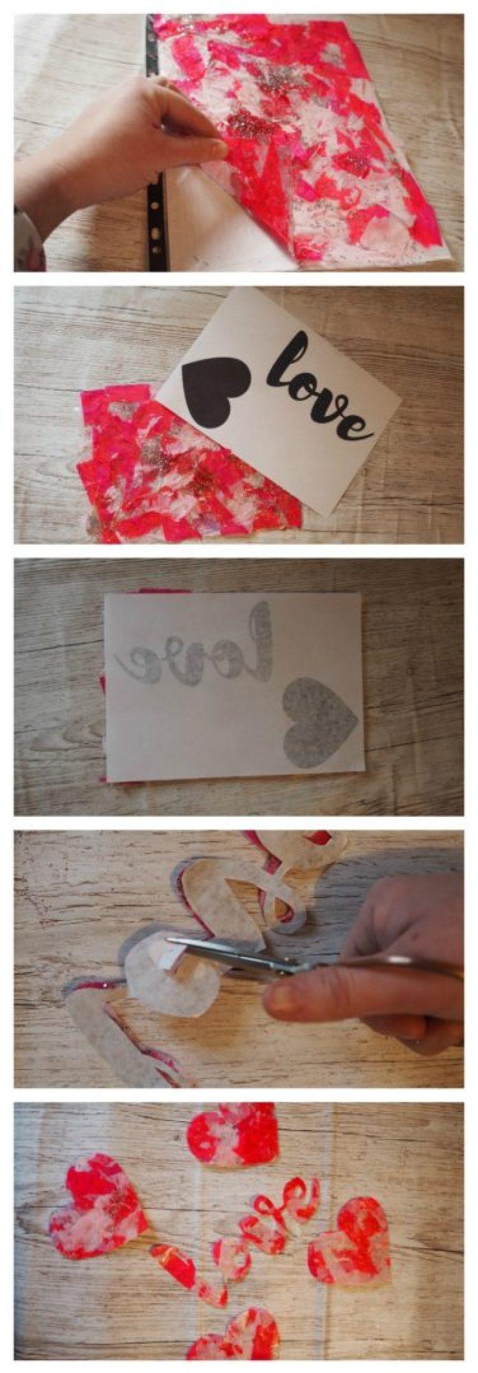 How to make heart suncatchers - valentines for kids