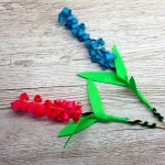 How to make a paper Hyacinth flower craft