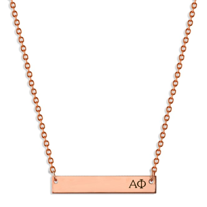 APhi-Sorority-Bar-Necklace-Rose-Gold