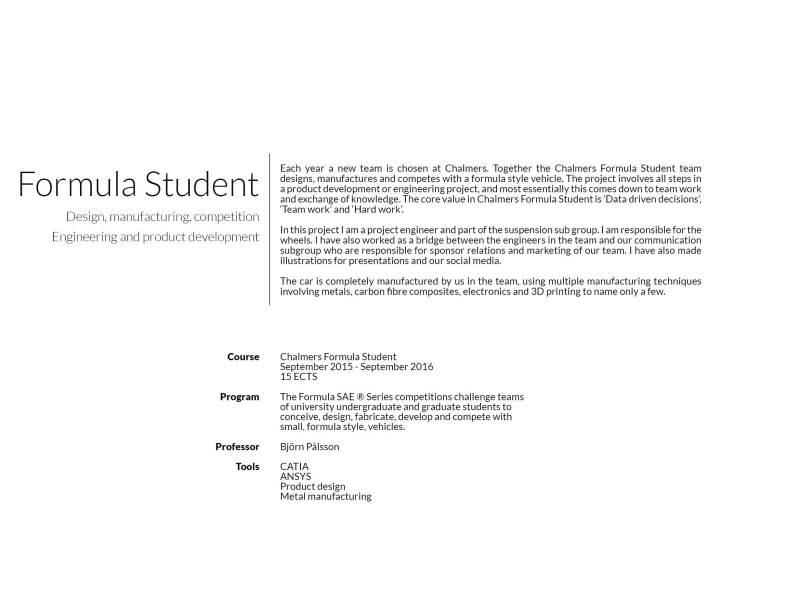 Formula student - Description