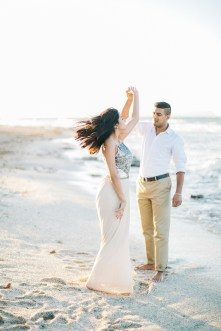 Intimate beach engagement portraits in Crete