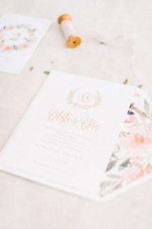 Destination wedding stationery set for Mykonos island wedding. Wedding invitation and details.