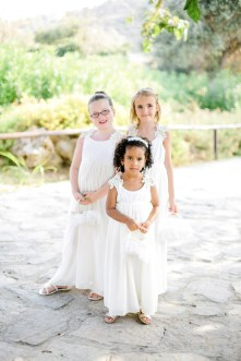 Beautiful flower girls posing for a portrait.