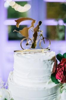 Signature wedding cake for a destination wedding in Crete.