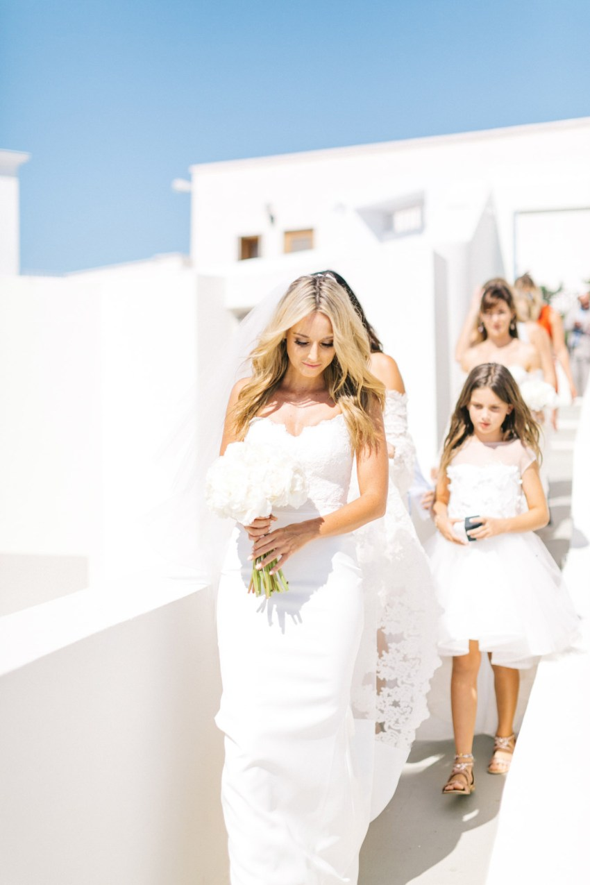 Santorini caldera wedding.