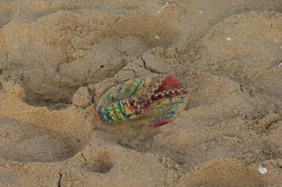 im Sand verloren