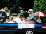 Sun Prairie Mayor David D. Hanneman waits to enter the parade route in Sun Prairie, circa 2003.
