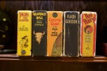 The well-worn spines of David D. Hanneman's Big Little Book collection.