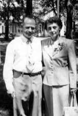 Carl F. and Ruby V. Hanneman on their 25th wedding anniversary in July 1950.