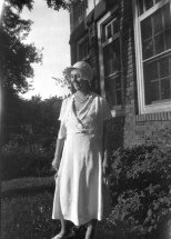 Ruby Hanneman at Vesper, Wisconsin in the late 1920s.