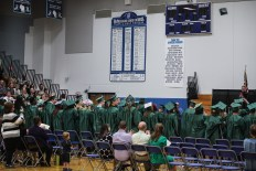 The graduation was held at McFarland High School, south of Madison.