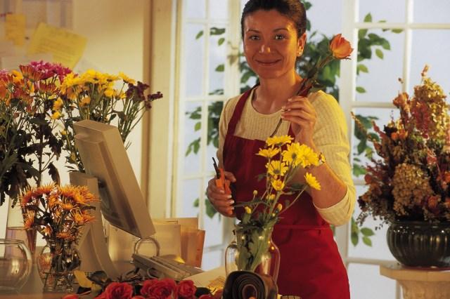 bestelltblumenverkuferin