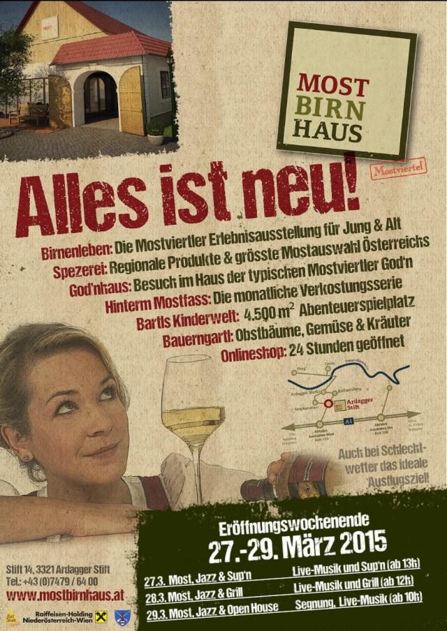 Plakat-Mostbirnhaus