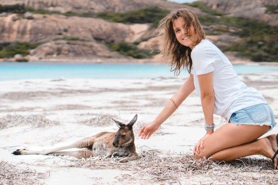 Kangaroo in Lucky Bay, Australien